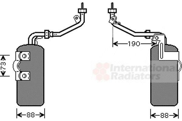 Filtre déshydratant, climatisation - VAN WEZEL - 1800D387