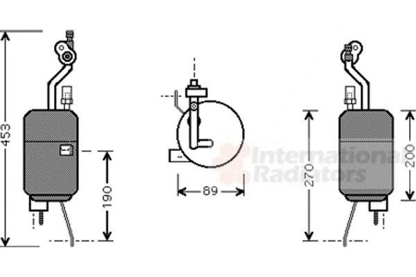 Filtre déshydratant, climatisation - VAN WEZEL - 1800D409