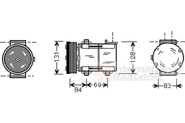 Compresseur, climatisation - VAN WEZEL - 1800K167