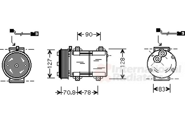 Compresseur, climatisation - VAN WEZEL - 1800K281