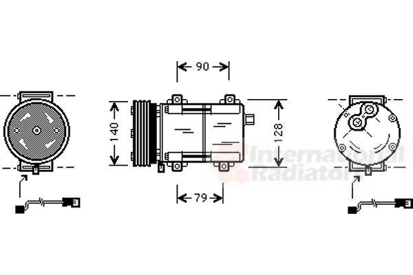 Compresseur, climatisation - VWA - 88VWA1800K288