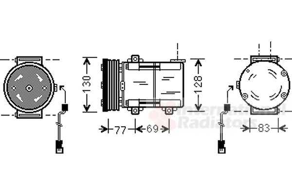 Compresseur, climatisation - VWA - 88VWA1800K289