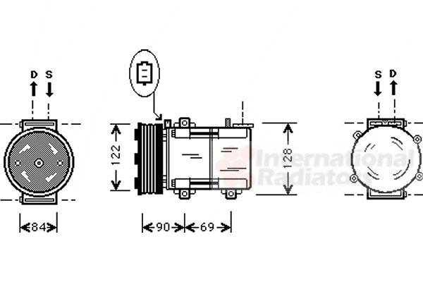 Compresseur, climatisation - VWA - 88VWA1800K352