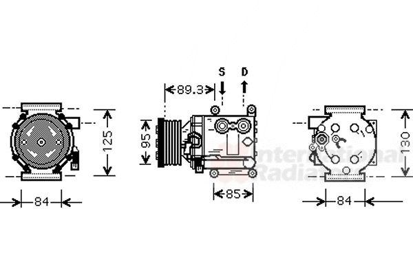 Compresseur, climatisation - VAN WEZEL - 1800K402