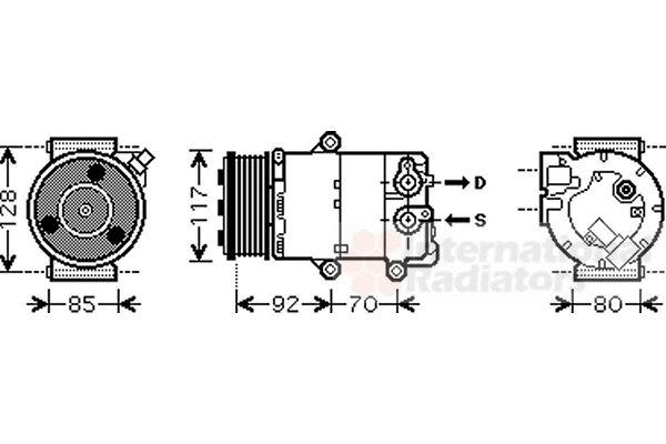 Compresseur, climatisation - VAN WEZEL - 1800K415