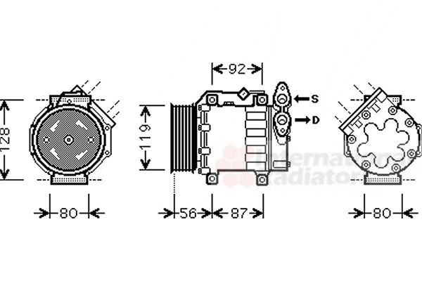 Compresseur, climatisation - VAN WEZEL - 1800K431