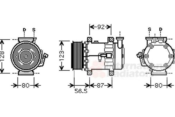 Compresseur, climatisation - VAN WEZEL - 1800K432