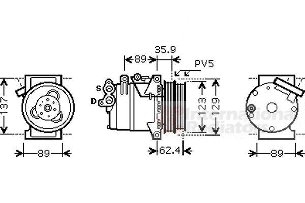 Compresseur, climatisation - VAN WEZEL - 1800K433