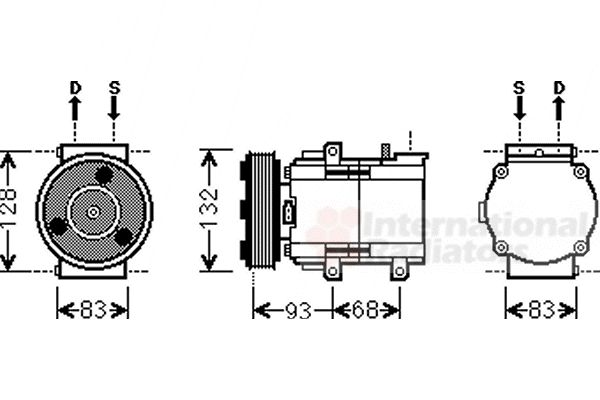 Compresseur, climatisation - VAN WEZEL - 1800K435