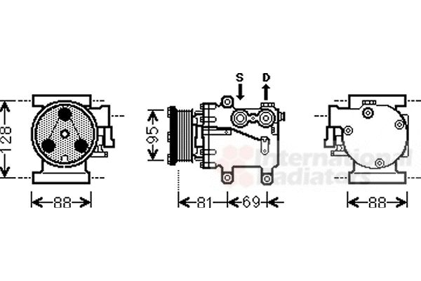 Compresseur, climatisation - VAN WEZEL - 1800K437