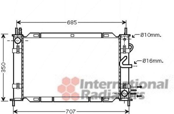 Radiateur, refroidissement du moteur - VAN WEZEL - 1800M388
