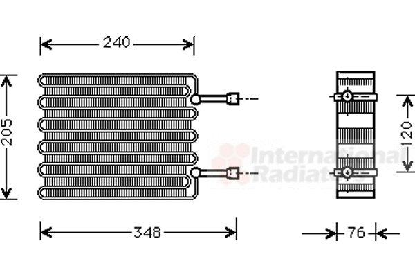 Evaporateur climatisation - VAN WEZEL - 1800V022
