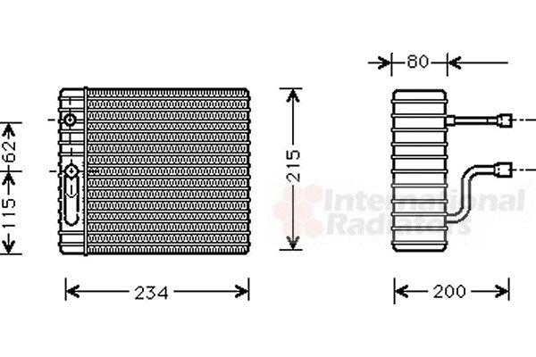 Evaporateur climatisation - VWA - 88VWA1800V089