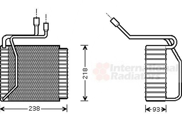 Evaporateur climatisation - VAN WEZEL - 1800V109