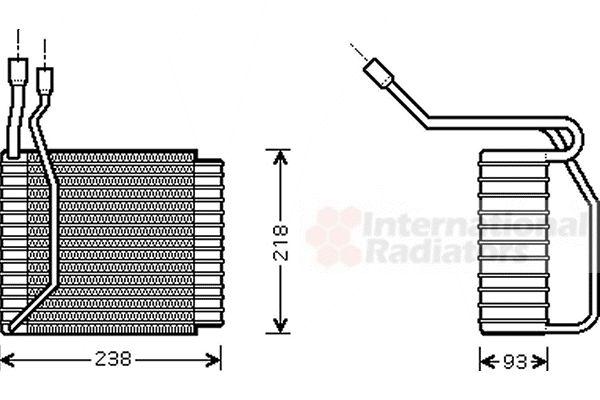 Evaporateur climatisation - VAN WEZEL - 1800V110
