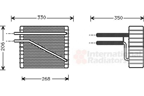 Evaporateur climatisation - VAN WEZEL - 1800V269