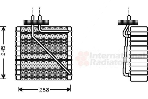 Evaporateur climatisation - VAN WEZEL - 1800V270
