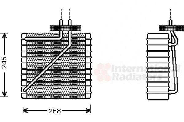 Evaporateur climatisation - VAN WEZEL - 1800V271