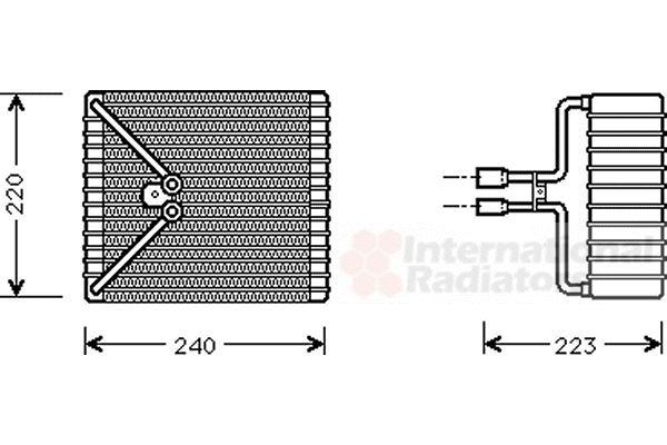 Evaporateur climatisation - VAN WEZEL - 1800V273