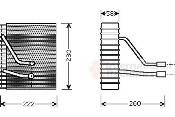 Evaporateur climatisation - VAN WEZEL - 1800V330