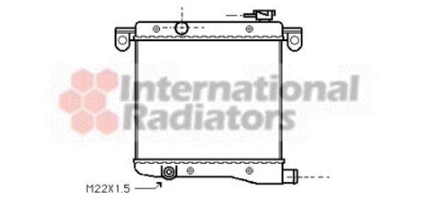 Radiateur, refroidissement du moteur - VAN WEZEL - 17002012