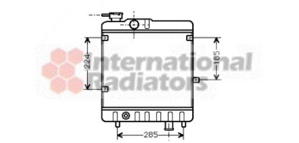 Radiateur, refroidissement du moteur - VAN WEZEL - 17002028