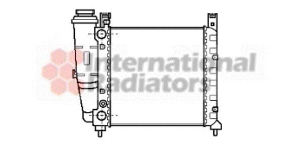 Radiateur, refroidissement du moteur - VAN WEZEL - 17002038