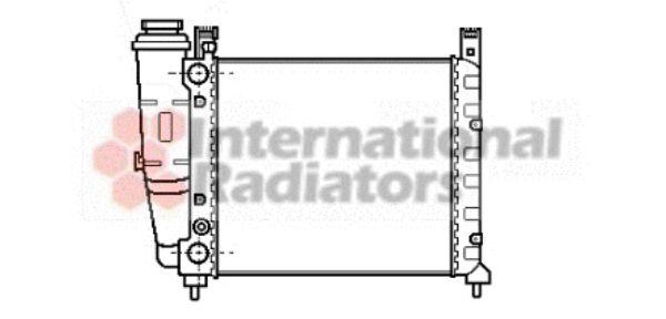 Radiateur, refroidissement du moteur - VAN WEZEL - 17002039