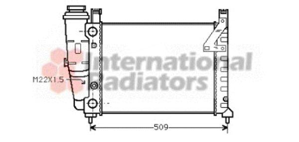 Radiateur, refroidissement du moteur - VAN WEZEL - 17002040