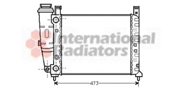 Radiateur, refroidissement du moteur - VAN WEZEL - 17002047