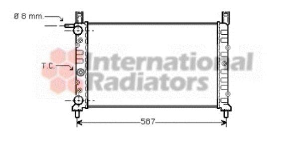 Radiateur, refroidissement du moteur - VAN WEZEL - 17002056
