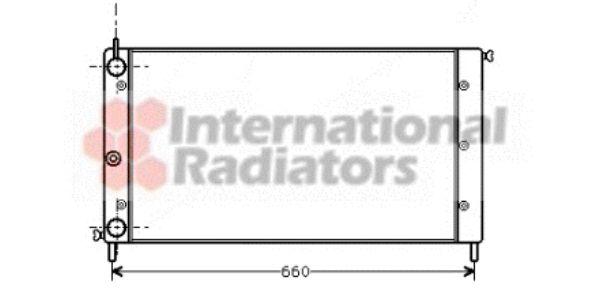 Radiateur, refroidissement du moteur - VAN WEZEL - 17002058