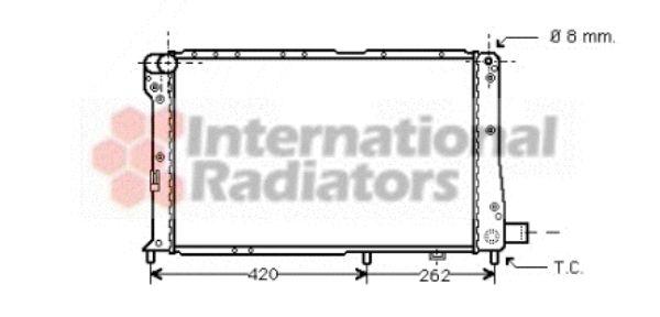 Radiateur, refroidissement du moteur - VAN WEZEL - 17002065