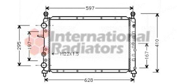 Radiateur, refroidissement du moteur - VAN WEZEL - 17002066