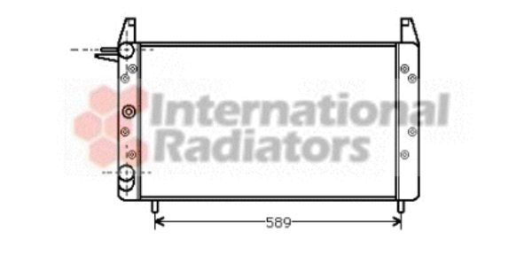 Radiateur, refroidissement du moteur - VAN WEZEL - 17002068