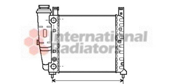 Radiateur, refroidissement du moteur - VAN WEZEL - 17002076