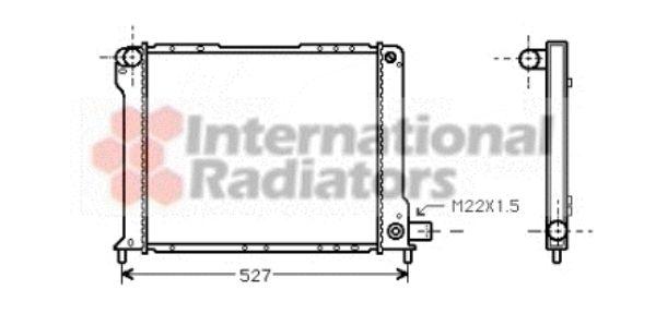 Radiateur, refroidissement du moteur - VAN WEZEL - 17002080