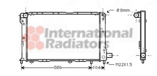 Radiateur, refroidissement du moteur - VAN WEZEL - 17002092
