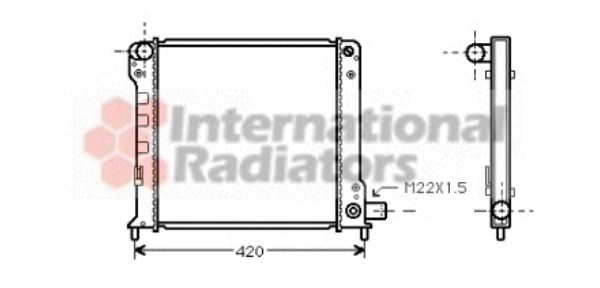 Radiateur, refroidissement du moteur - VAN WEZEL - 17002093