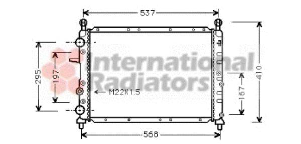 Radiateur, refroidissement du moteur - VAN WEZEL - 17002094