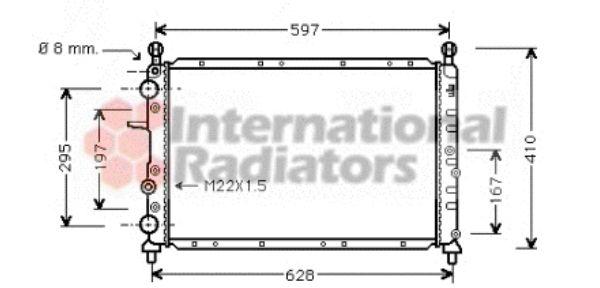 Radiateur, refroidissement du moteur - VAN WEZEL - 17002095
