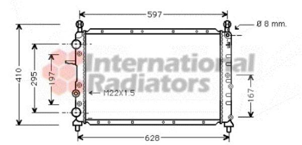 Radiateur, refroidissement du moteur - VAN WEZEL - 17002099