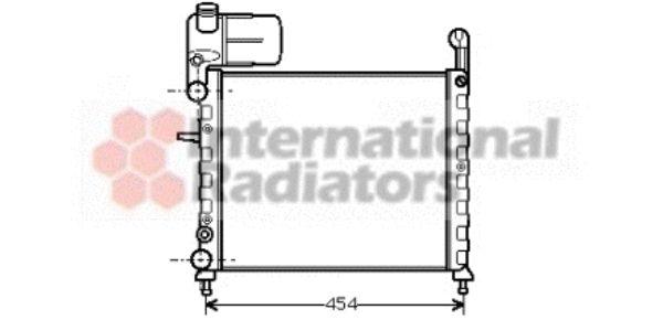 Radiateur, refroidissement du moteur - VAN WEZEL - 17002100