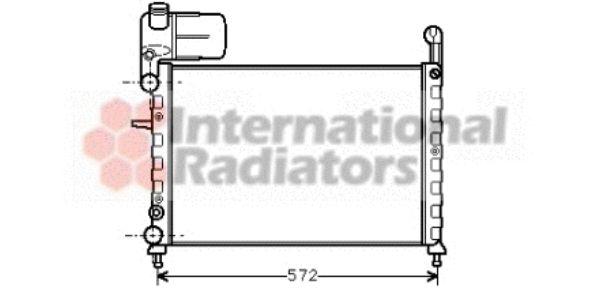Radiateur, refroidissement du moteur - VAN WEZEL - 17002101