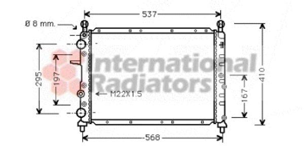 Radiateur, refroidissement du moteur - VAN WEZEL - 17002109