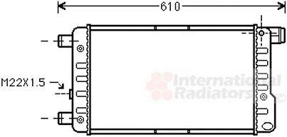 Radiateur, refroidissement du moteur - VWA - 88VWA17002115