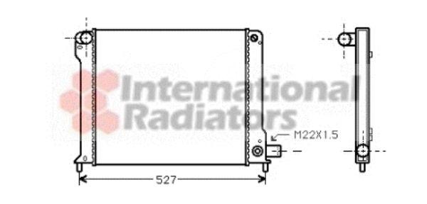 Radiateur, refroidissement du moteur - VAN WEZEL - 17002123