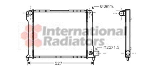 Radiateur, refroidissement du moteur - VAN WEZEL - 17002131