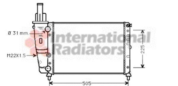 Radiateur, refroidissement du moteur - VAN WEZEL - 17002138