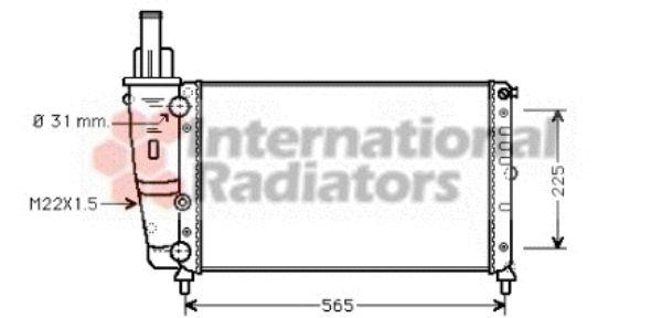 Radiateur, refroidissement du moteur - VAN WEZEL - 17002139